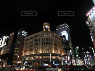 夜の街の景色の写真・画像素材[1681971]