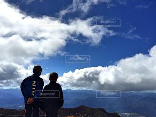子ども,風景,空,景色,登山