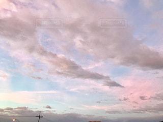 空,秋,ピンク,秋空