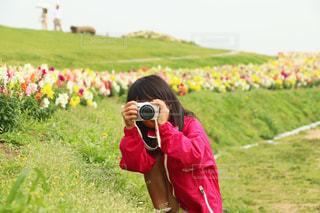 カメラ女子の写真・画像素材[1828970]