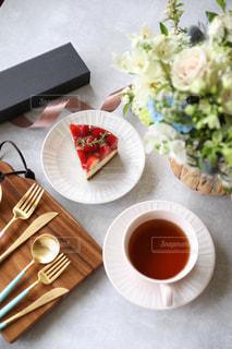いちごレアチーズケーキの写真・画像素材[3196443]