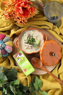 キノコ,テーブルフォト,豆乳,キッコーマン,豆乳スープ,ホッ豆乳,調製豆乳,キッコーマン豆乳,無調整豆乳,野菜とキノコの豆乳スープ