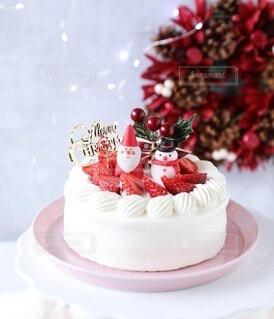 クリスマスケーキの写真・画像素材[3990174]