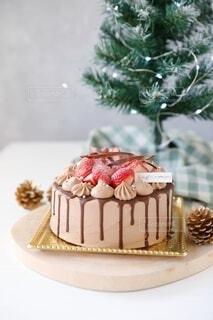 クリスマスケーキの写真・画像素材[3990181]