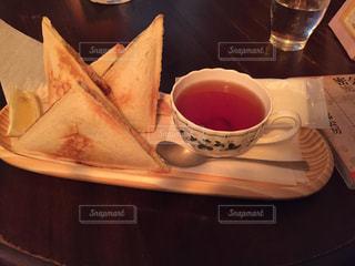 喫茶店にての写真・画像素材[1585833]