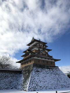 城に雪の写真・画像素材[1739813]