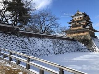城に雪の写真・画像素材[1739835]
