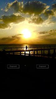 海,空,夕日,雲,沖縄,光,サンセット,秋空,フサキリゾート