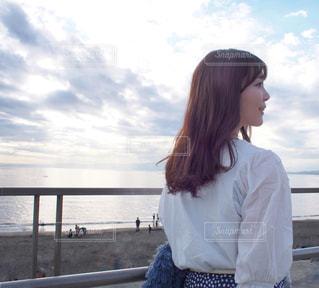 江ノ島海岸にての写真・画像素材[1593630]