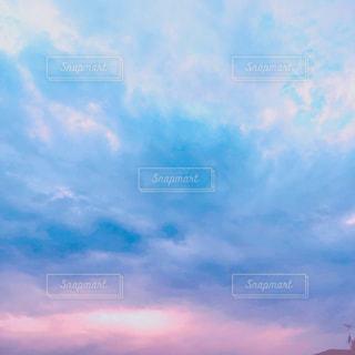 空,雲,夕焼け