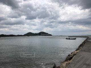 自然,空,雲,水面,海岸,くもり,岬,日中