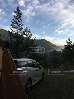 自然,空,景色,キャンプ,朝,秋空,青根キャンプ場