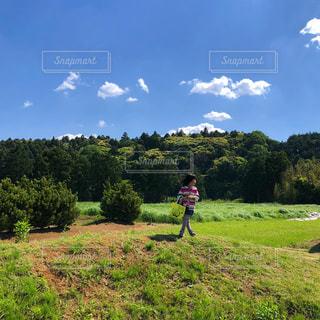 自然,風景,空,青空,山,子供,秋空,秋の空