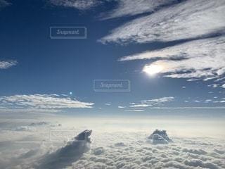 富士山本八合目からの雲海の写真・画像素材[2411608]