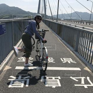 しまなみ街道サイクリングの写真・画像素材[1509461]