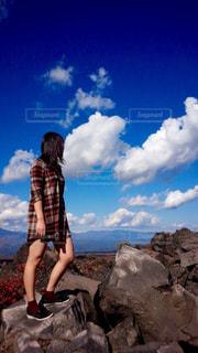 風景,空,秋,紅葉,屋外,雲,幻想的,もみじ,山,オレンジ,登山,岩,旅行,秋空,レジャー・趣味