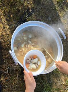 熱々の芋煮の写真・画像素材[1519048]