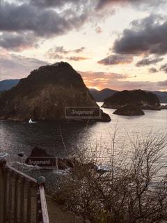 風景,秋,雲,夕焼け,旅行,日の入り,日本海,兵庫,11月,奇岩