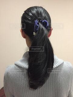 女性,後ろ姿,髪型,黒髪,パーマ