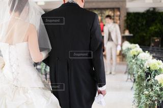 結婚式,新郎,新婦,父,お父さん,バージンロード