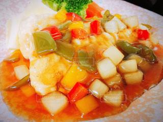食べ物,食事,ランチ,魚,野菜,白身魚,あんかけ,甘酢