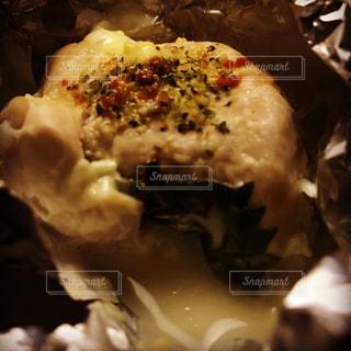 チーズ,大葉,ササミ,アルミホイル,包み焼き