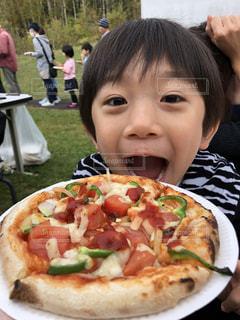 子供,手作り,ピザ,食欲の秋,ピザ作り,上手に出来たね