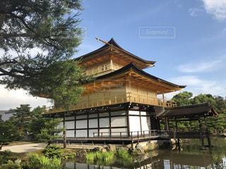 空,京都,雨上がり,金閣寺,秋空
