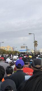 空,群衆,屋外,人物,人,マラソン,スタート
