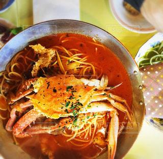 渡り蟹のスープパスタの写真・画像素材[1783005]