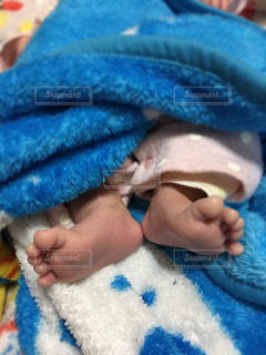 赤ちゃんの足裏の写真・画像素材[1800639]
