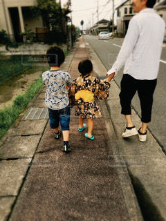 親子3人の写真・画像素材[2367607]