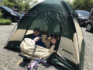 お庭でキャンプの写真・画像素材[2396050]