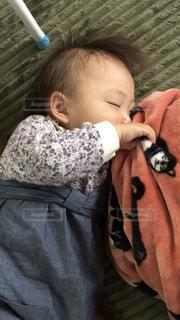 赤ちゃんのお昼寝の写真・画像素材[2431581]