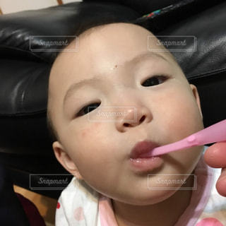 歯を磨く女の子の写真・画像素材[2446355]