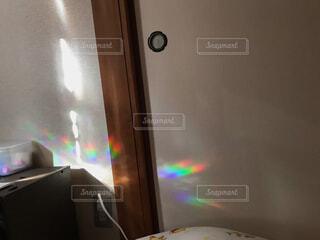 寝室の朝の光の写真・画像素材[4435528]