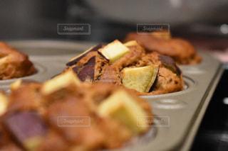 食べ物,食事,料理,マフィン,手作りお菓子,食,焼きたて,焼き菓子,秋の味覚,食欲の秋,五郎島金時のマフィン,五郎島金時