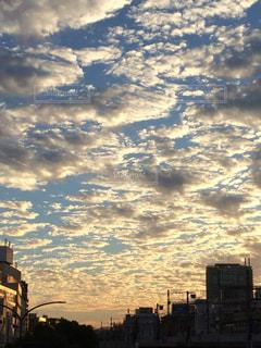 空,雲,夕焼け,夕方,夕景,秋空
