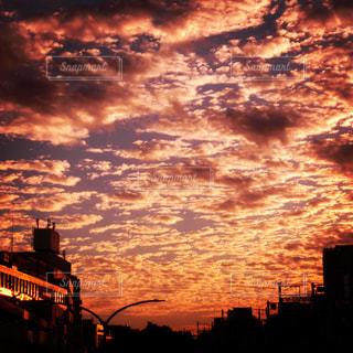 空,雲,夕焼け,夕方,夕景,秋空,秋の空