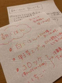 メニュー,メモ,書き置き,メッセージ,朝ごはん,ありがとう,手書き,献立,紙,言葉,感謝,いつもありがとう,直筆