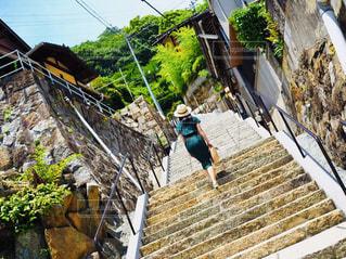 夏の階段を涼しげにの写真・画像素材[2379591]