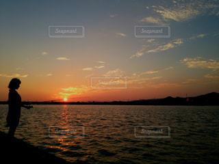 秋,夕暮れ,夕陽,秋空