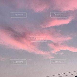 風景,空,屋外,ピンク,雲,夕焼け,ハート,マーク