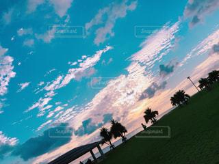 海,空,屋外,ビーチ,夕焼け,観光地,沖縄,可愛い,リゾート,秋空,夏の思い出