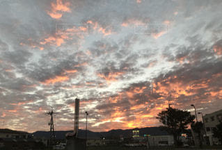 空,秋,夕焼け,うろこ雲,滋賀,夕空,秋空