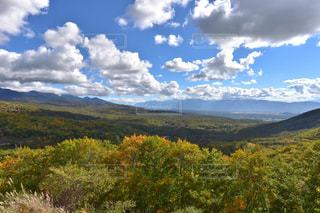 自然,空,雲,山,秋空