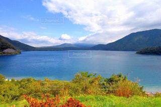 自然,紅葉,湖,秋空
