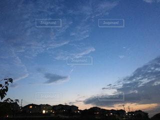 空,屋外,夕暮れ,秋空,ノン加工