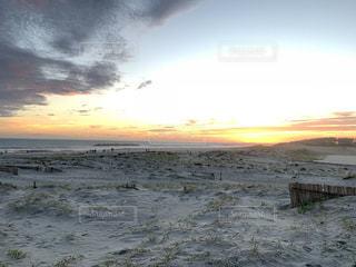自然,風景,夕日,屋外,砂,雲,砂浜,夕暮れ,景色,砂漠