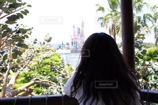 ヘアスタイル,ディズニー,シンデレラ城,ミディアム,ゆるふわパーマ